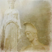 Antique statues background — Stock Photo