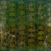 Green grunge wallpaper with floral retro pattern — Stock Photo