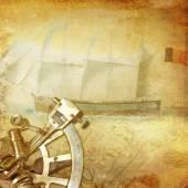 Vintage nautical background — Stock Photo