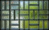 Tekstury panelu cegły szkła — Zdjęcie stockowe