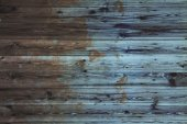 Painted and scratched wooden planks — Stock Photo