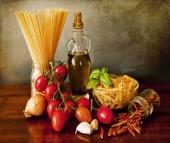 Italian pasta, arrabbiata sauce recipe — Stock Photo