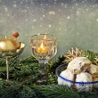 Christmas glitter and butter cookies — Stock Photo #55314643
