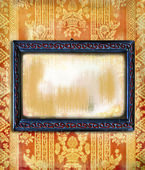 Art-deco carved wooden frame — Stock Photo