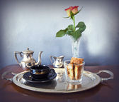 Continental breakfast for one — Foto Stock