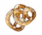 Bavarian delicacy: pretzels — Stock Photo