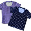 Two vintage cotton t-shirts a pois — Stock Photo #57469935