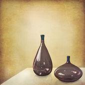 Minimalist still life with Murano glasses — Stock Photo