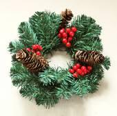Christmas fir wreath — Stock Photo