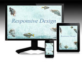 Responsive design, scalable websites — Foto Stock