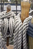 Old yacht ropes — Stock Photo