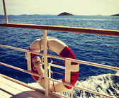 Seascape and islands landscape from a cruise vessel — Stock Photo