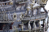 Vintage galleon, touristic attraction in Genoa, Italy — Stock Photo