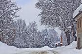 Austria, heavy snowfall on Carinthia routes — Stock Photo