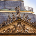 Stuttgart, Germany - New Castle facade, detail — Stock Photo #64739263