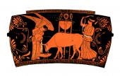 Ancient greek vase: Democracy — Stock Photo