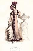 Antique fashion magazine 1818 — Stockfoto