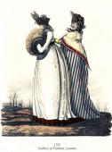 Vintage women fashion illustrated, 1797 — Fotografia Stock