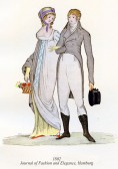 Vintage women and men fashion illustrated, 1802 — Stock Photo