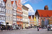 Germany - Panoramic view of Landshut center — Stock Photo