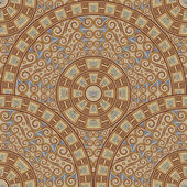 Fondo transparente de patrones circulares. ornamento del marrón oscuro al estilo griego. — Vector de stock