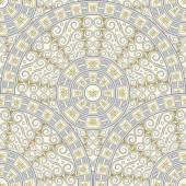 Seamless background of circular patterns. Light gray ornament in the Greek style. — Vetorial Stock