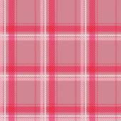 Seamless pink tartan pattern fabric. — Stock Vector