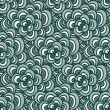 Seamless doodle. Simple floral pattern in winter blue-green tones. — 图库矢量图片 #58483791