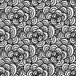 Seamless doodle. Simple floral pattern in black and white tones. — Stock Vector #58487319