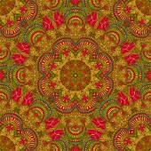 Seamless pattern in oriental style. Bright background of the circular patterns. — Wektor stockowy