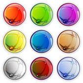Colored glossy web buttons — Stock Vector