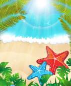 Tropical beach  — Stockvector