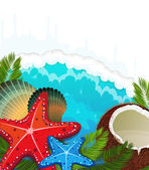 熱帯海の背景 — ストックベクタ