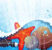 Underwater background — Stock Vector