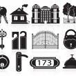 House and hotel icons — Stock Vector #53544159
