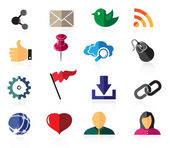 Color social network icons — Stock Vector