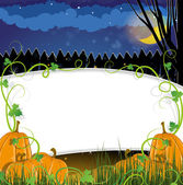 Halloween Pumpkins with sprouts — Stock Vector