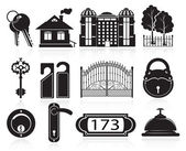House and hotel icons — Stock Vector