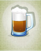Mug with beer — Stock Vector