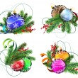 Christmas decoration elements — Stock Vector #60077285