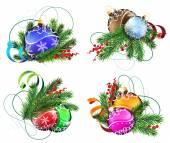 Noel dekorasyon elemanları — Stok Vektör