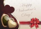 Retro Valentines day background — Stock Vector