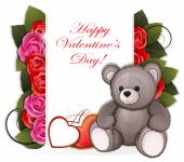 Teddy bear with roses — Stock Vector