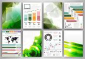Creativo set de iconos y fondos — Vector de stock