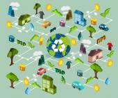 Environmental protection scheme — Stock Vector