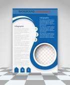 Blue flyer design — Stock Vector
