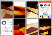Brown and beige creative backgrounds and abstract concept vector — Vector de stock