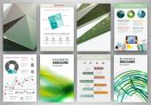 Fondos creativos verdes y concepto abstracto infografía — Vector de stock