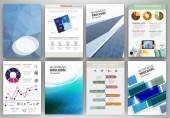Blue business backgrounds and abstract concept infographics — Vecteur