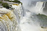 View of Iguazu waterfalls in Brazil — Stockfoto